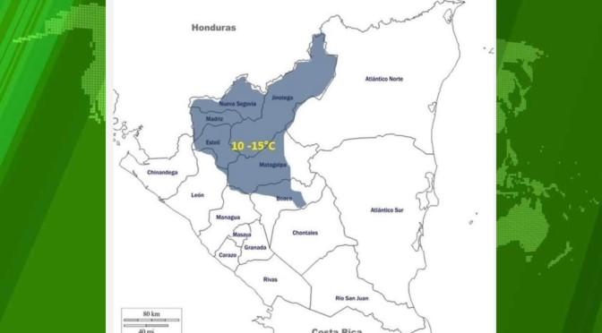 Frío permanecerá durante los próximos 5 días en el norte de Nicaragua.
