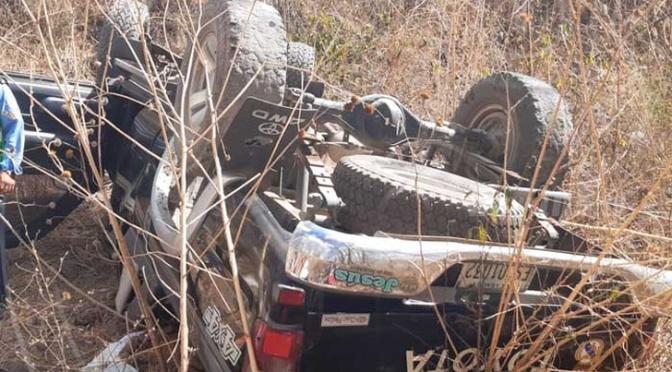 Adulto mayor se precipita con su vehículo a un abismo en Estelí.