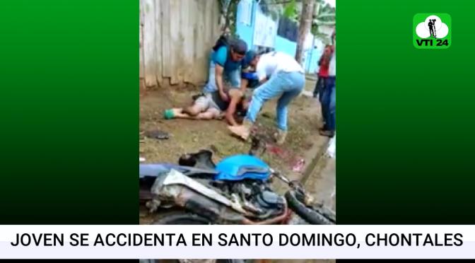 Motociclista queda entre la vida y la muerte tras accidentarse en Santo Domingo, Chontales.