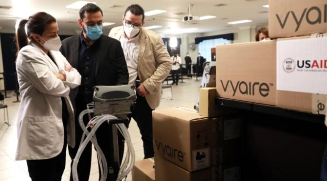 EE.UU. dona más ventiladores a El Salvador en apoyo a lucha contra COVID-19