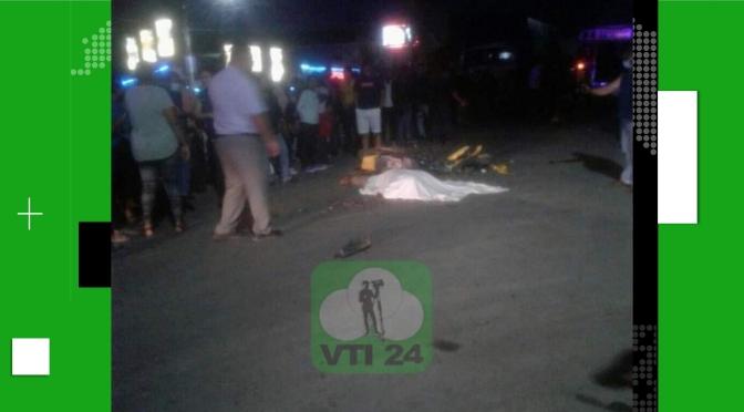ACCIDENTE DEJA JOVEN FALLECIDO EN SANTO TOMAS, CHONTALES.