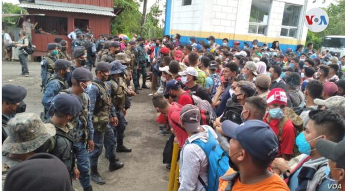 Honduras captura traficantes de personas involucrados en caravana de migrantes.