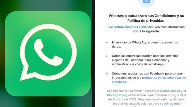 WhatsApp lanza nuevos términos y condiciones.