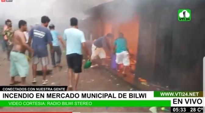 Incendio deja dos viviendas y un vehículo calcinado en Bilwi