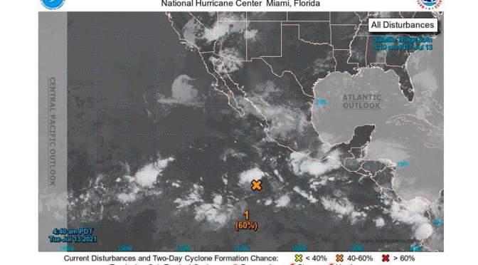 Onda Tropical No.14 avanza y se esperan lluvias en Nicaragua.