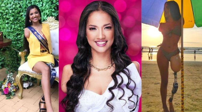 Victoria Salcedo, la candidata a Miss Ecuador 2021 sin brazos y sólo una pierna.